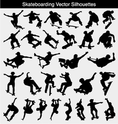 Skateboarding Silhouettes vector image vector image