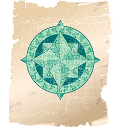 wind rose parchment 380 vector image vector image