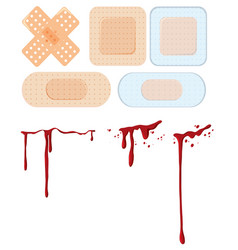 A set of wound and bandage vector