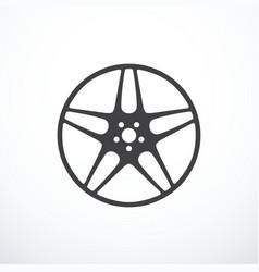 Alloy wheel icon vector