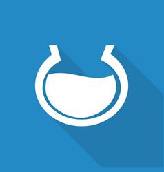 Aquarium icon with a long shadow vector