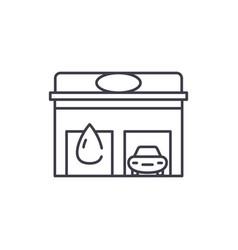auto service line icon concept auto service vector image