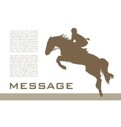 Background with horse vector image
