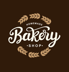 Bakery logo template design vector