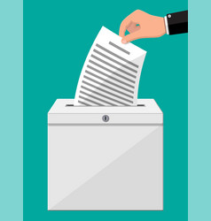Ballot box container with lock full documents vector