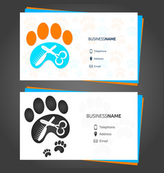 barber animal business card vector image
