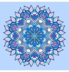 blue beautiful vintage circular pattern vector image