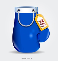 Boxing day shopping creative sale idea vector image
