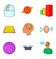 Brilliant thought icons set cartoon style vector