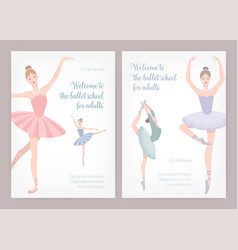 bundle of poster or flyer templates for ballet vector image