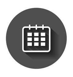 calendar agenda icon in flat style reminder with vector image