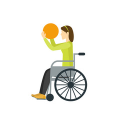 cartoon disability athlete person vector image
