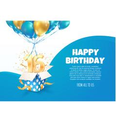 Celebrating 16 th years birthday vector