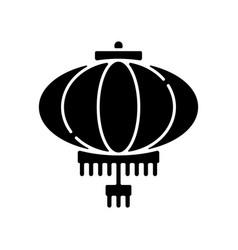 Chinese lantern black glyph icon vector