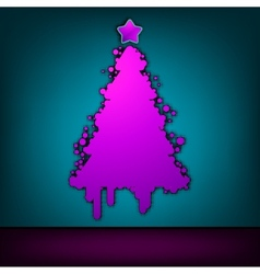 Christmas tree green card EPS 8 vector