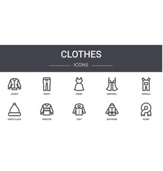 Clothes concept line icons set contains icons vector