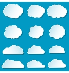 Clouds set collection vector image