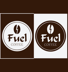 Coffee shop logo design labels template vector