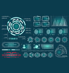 collection elements for futuristic design vector image