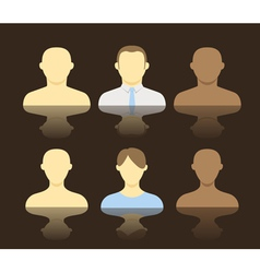 Collection of an account icons of men and women vector
