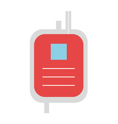 Donate blood bag isolated icon vector