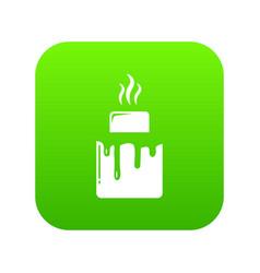 Empanadas icon green vector