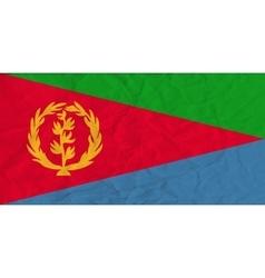 Eritrea paper flag vector image