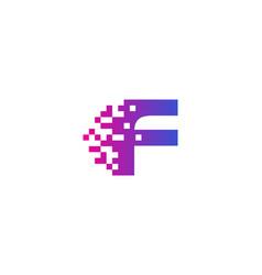 f letter pixel logo icon design vector image