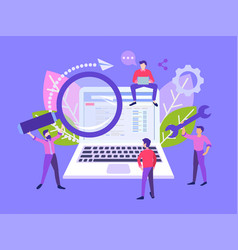 flat seo and information search vector image