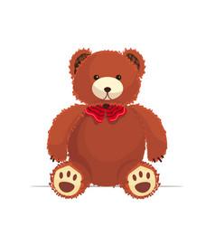 funny teddy bear cute toy icon vector image