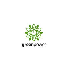 green power logo design concept vector image