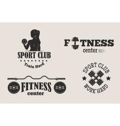 Gym fitness symbols set vector image
