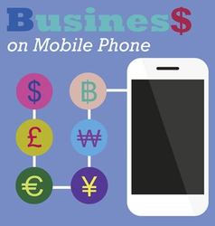 Info graphic Business on Mobile phone vector image