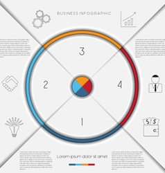 Infographic template on 4 positions vector