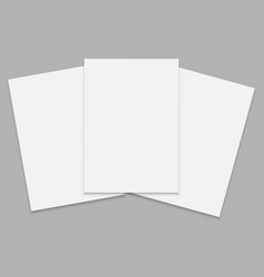 Journal or magazine mockup vector