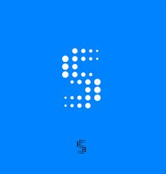 logo s letter vector image