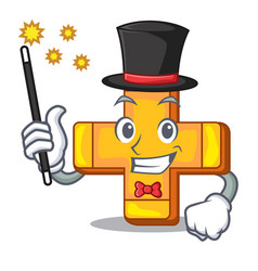 Magician plus sign isolated on the mascot vector