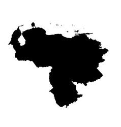 map venezuela isolated black vector image