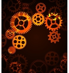 mechanism cogwheels vector image