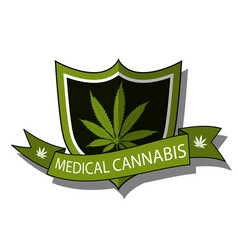 Medical cannabis-emblem vector