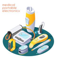 Medical portable electronics composition vector