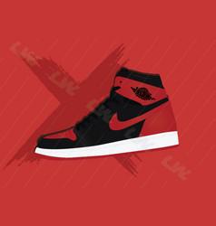 Nike air jordan 1 bred vector