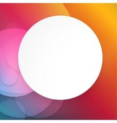 Paper circle with drop shadows vector image