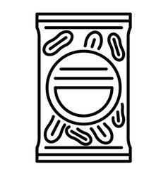 peanut package icon outline style vector image