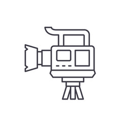 professional video camera line icon concept vector image