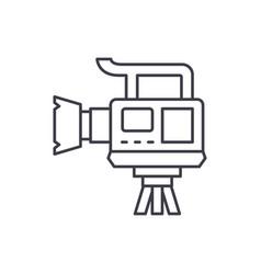 professional video camera line icon concept vector image