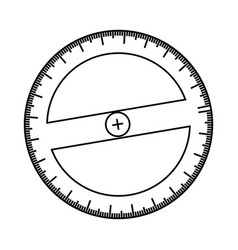 protractor ruler icon vector image