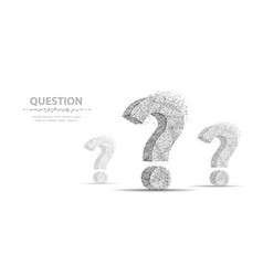 question mark 3d abstract vector image
