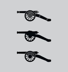 Retro cannon vector