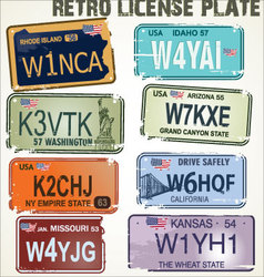 license plate template vector images over 160